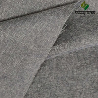 Manufacture Directly Polyester Faux Linen Sofa Fabric/Herringbone Faux Linen Fabric/Cationic Imitation Faux Fabric
