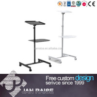 Unique design metal computer desks adjustable height office table sit and stand up with lifting columns metal