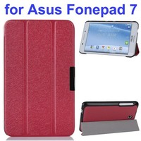 """Ultra Thin 3 Folding Pattern Flip Stand Leather Case for Asus Fonepad 7 FE375 FE375CG 7"""" Case"""