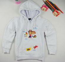kid's 100%cotton embroidered hoodies