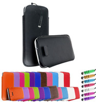 Soft Leather Pull Tab Slip Pouch Case Cover For Samsung Galaxy S4 i9500