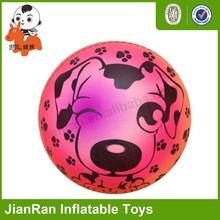 PVC cartoon ball, colorful toys rehearsal ball , Inflatable rainbow ball