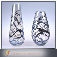 Factory Wholesale Types of Fashion Hand Blown Glass Flower Vase
