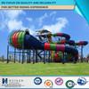Combination fiberglass big water slide for sale