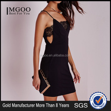 MGOO New Design OEM/ODM Simple Black Party Dress Hollow Out Sexy V Neck Women Crochet Dress Vestidos k071806