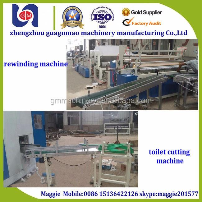 Automatico pieno tipo igienica jumbo rotolo di carta igienica che fa la macchina semi automatica macchina di conversione