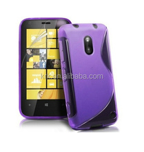 TPU S Line Soft Rubber Gel Back Cover Case For Nokia Lumia 620 Phone Case