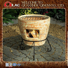 customized size classic grey antique Mexican terracotta chimineas