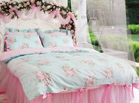 printed cotton hand stitch bed sheet