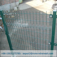 Factory price triangle bended fence/ V fold wire mesh fence for sale