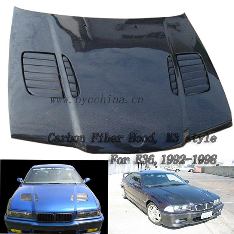 BMW E36 capó de fibra de carbono, el estilo M3 , 4Puertas 1992-1998 ...