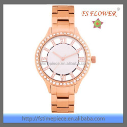 FS FLOWER - 3 ATM Water Resistant Stainless Steel Vogue Fake Gold watches 2015
