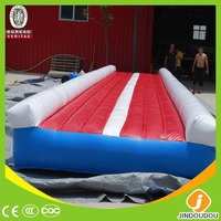2015 best selling custom commercial outdoor sport games tumbling trampoline inflatable air track for gymnastics training