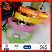 2015 High Quality wholesale nylon Led Dog Collars