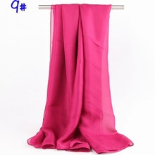 Wholesale 2014 New Trending Red Plain Color Chiffon Scarf From China
