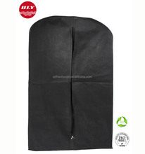 Wholesale Reusable Folding Non-woven Garment Bag Suit Cover With Zipper