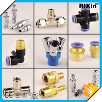 RX 1039 pneumatic component push to connect fitting one touch fitting pneumatic air hose fitting brass connector push in fitting