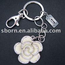 2012 Promotional Diamond Key Chain with Flower