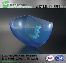 Taiwan made high quality cyclorama shaped department store acrylic display
