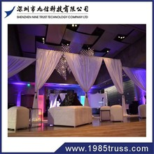 aluminum pipe and drape hotel wall decor drapery