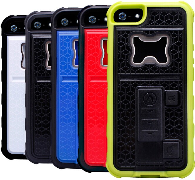 Multi-functional funky mobile phone case for iPhone 5s built-in bottle opener