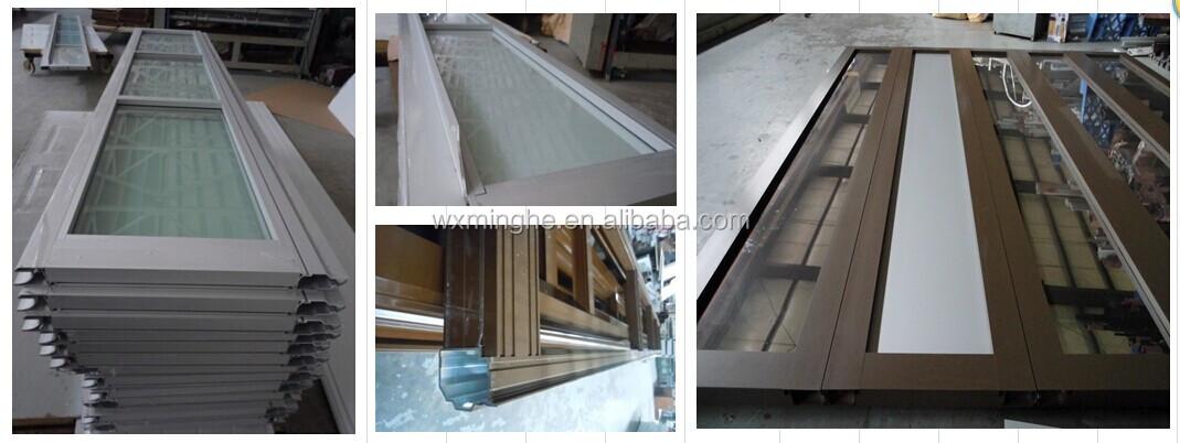 Anodized Aluminum Transparent Garage Doortempered Glass Garage Door