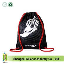 Customized Logo And Size Sports Meeting 210D Polyester Cheap Drawstring Bag For Athlete