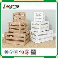 wooden fruit crate boxes / wooden crate /wooden container for home