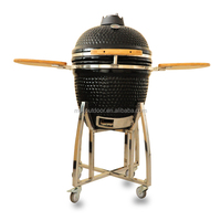 Kamado Big Egg black color 21 inch kamado for garden use