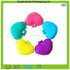 New Arrival Candy Color Girls' Heart Shaped Mini Silicone Rubber Coin Purses