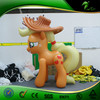 Factory Customized PVC Inflatable Horse Plastic Toys For Kids Small Animals