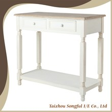 Simple Chinese Antique Wooden Console Table With Drawers, Hotel Antique Decorative Console Table