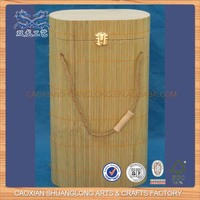 New Design Unfinished Cheap Wholesale Wooden Christmas Wine Bottle Gift Box