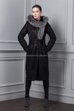 Russia Winter 2014& 2015 New Style Woman PU Long Coat