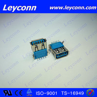 9 Pin Right Angle USB 3.0 female Connector pcb usb connector