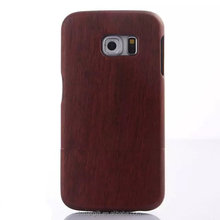 2015 hot selling product!100% Real Wood phone case for samsung galaxy S6 edge wood case