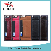 Colored 4.7inch case with card slot cell phone wallet for iphone6