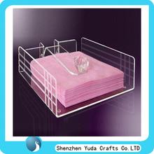 Hot Selling clear acrylic tray table acrylic bathroom amenity tray serving tray