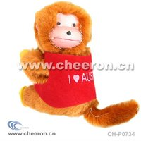 Plush Clip Monkey, Plastic Face Toy Monkey