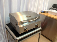 Outdoor gas bbq grill / Camping case for bbq10 with 2 burner/ stainless steel