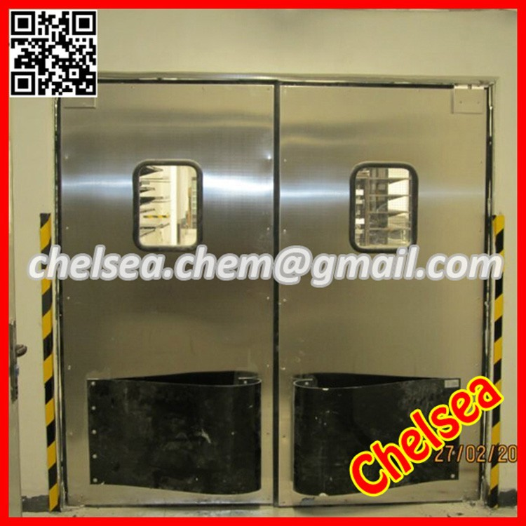 Shuotian light duty stainless steel impact traffic door clear plastic pvc swing door commercial - Commercial double swing doors ...