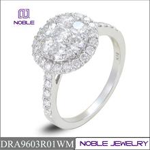latest design sparkle setting 18K white gold diamond jewelry
