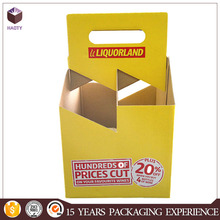 Cardboard Beer Bottle Carriers 6 and 4 Pack White/Kraft & 6 & 4Pack White 16oz