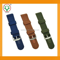 Wholesales Durable Fashion Nylon Handmade Leather Strap For Sport Watch