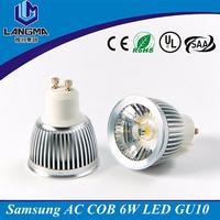 AC220 volts 3000K GU10 LED lamp, LED GU10 dimmable, 5W GU10 COB spotlight