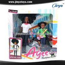 mother-daughter black barbiee doll black real doll african black doll