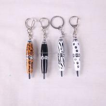 novel promo gift mini metal pen with keyring