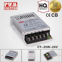 CY-25-24 CE approved 25w24v1a single ac dc regulated led power supply ultra-thin