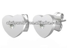 High quality antique big white double stud earring