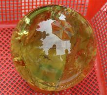 Charming Natural Rock yellow Jade Crystal Quartz Ball/Sphere